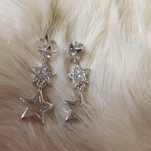 Jewelry - Silver Star ⭐️ Rhinestone Earrings